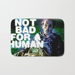 not bad for a human aliens print bishop Bath Mat