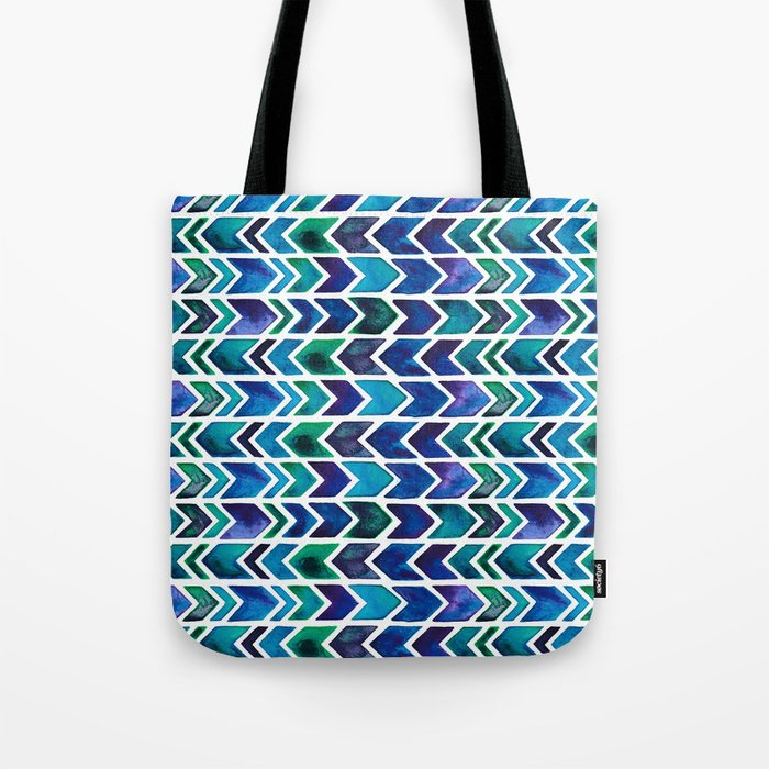 Turquoise and Green Aztec Pattern. Tote Bag