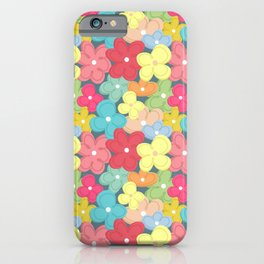 Colorful Flowers Pattern iPhone Case
