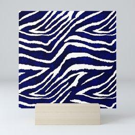 Animal Print: Zebra Blue and White Mini Art Print