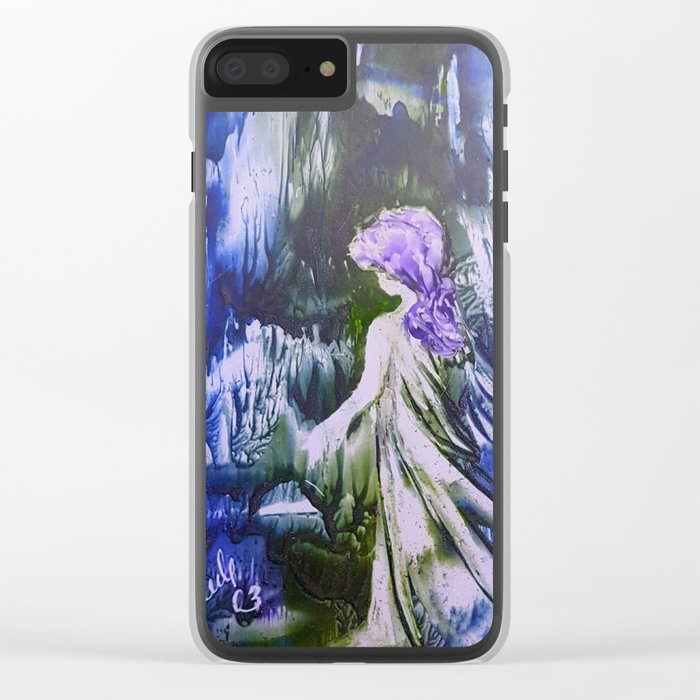 Lost Girl 2 - Blue Forest Clear iPhone Case