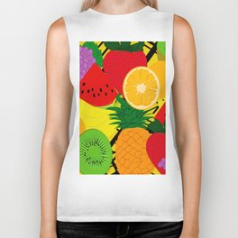Fruits Pattern Biker Tank