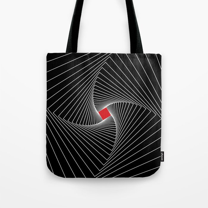 White, black, red - Optical Game 26 Tote Bag