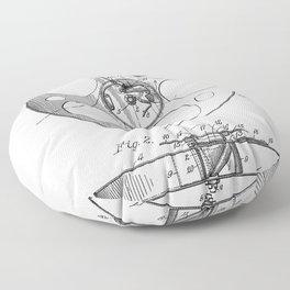 Film Reel Patent - Classic Cinema Art - Black And White Floor Pillow