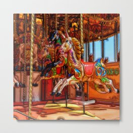 Have a ride on the merry-go-round Metal Print