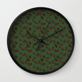 Coffee Beans - Forest Wall Clock