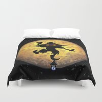 majora Duvet Covers featuring majora mask by neutrone