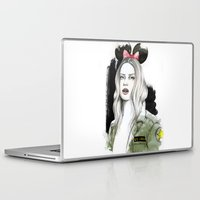 army Laptop & iPad Skins featuring Army Girl by Camis Gray