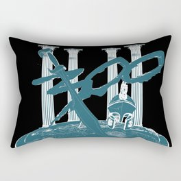 300 Blue and Black Rectangular Pillow