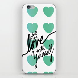 Fall in Love with Yourself hearts iPhone Skin