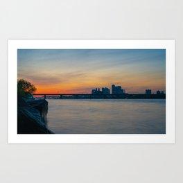Nights on the Han River Art Print