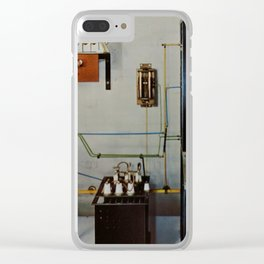 Vintage Comunication Clear iPhone Case