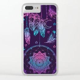 Ultra Violet Dreams, Dream Catcher Enchantment Clear iPhone Case