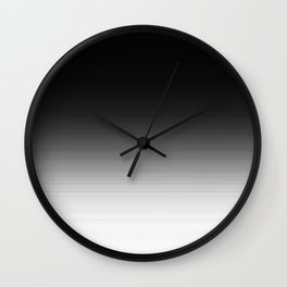 Black & White Ombre Gradient Wall Clock