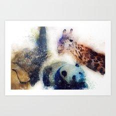 Animals Painting Art Print