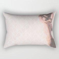 Reclining Lace Nude Rectangular Pillow
