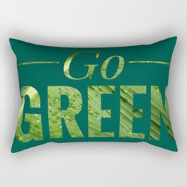 Go Green! Logo Rectangular Pillow