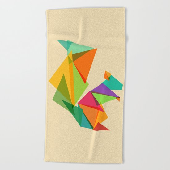 Fractal geometric Squirrel Beach Towel