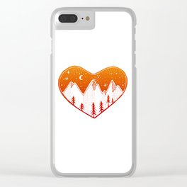 Heart In The Mountains - Warm Palette Clear iPhone Case