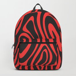 Modern black living coral abstract marble Backpack