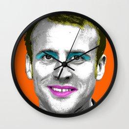 Marilyn Macron - Orange Wall Clock