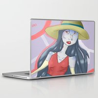 marceline Laptop & iPad Skins featuring marceline!! by clairen0vak