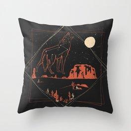 Heaven's Wild Coyote Throw Pillow