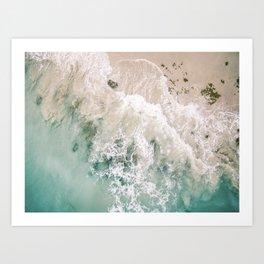 Frothy Fourth Beach Art Print
