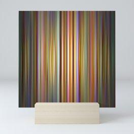 Colourful stripes pattern Mini Art Print