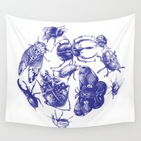 insect Wall Tapestries featuring Insect Toile by Cori Redford