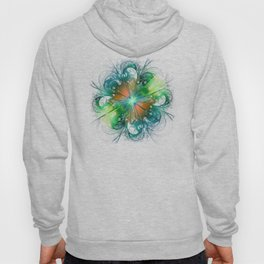 Abstract green flower Hoody