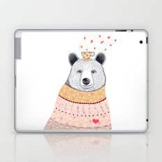 Bear lover of coffee Laptop & iPad Skin