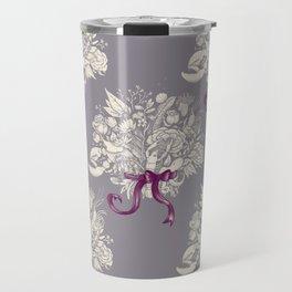 Undersea Victorian - gray Travel Mug