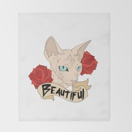 Beautiful Sphynx Throw Blanket