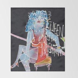 Queen of the Night Throw Blanket