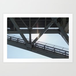 Bluewater Bridge 3 Art Print