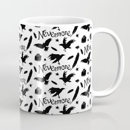 Edgar Allen Poes The Raven Nevermore Illustration Coffee Mug