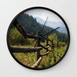 Long Road Home Wall Clock