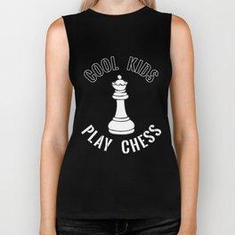 Cool Kids Play Chess Queen Piece - Cool Chess Club Gift Biker Tank