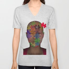 Autism Unisex V-Neck