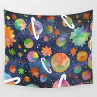 planet Wall Tapestries featuring Planet by Michaella Fonseca