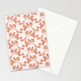 Branch with Flower Nuts Pattern Stationery Cards