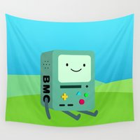 bmo Wall Tapestries featuring Beemo by Ashtn