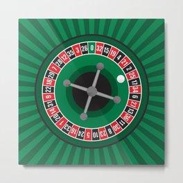 Roulette Wheel Metal Print