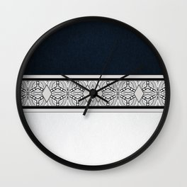 Rich Indigo Diamond Pattern Wall Clock