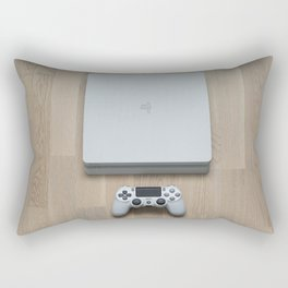 Sony PlayStation 4 Slim Glacier White gaming console Rectangular Pillow