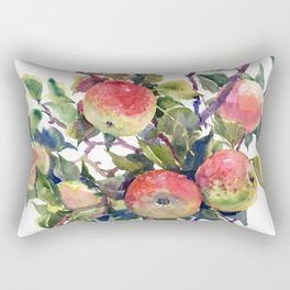 Apple Tree, apples green red kitchen fruits art Rectangular Pillow
