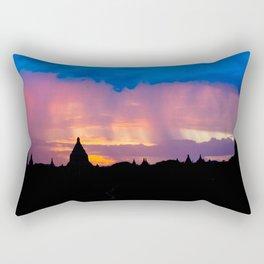 Sunset in Bagan, Myanmar Rectangular Pillow