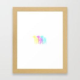 CMY-DOG Framed Art Print