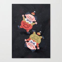 Tweedledee and Tweedledum - Alice in Wonderland Canvas Print